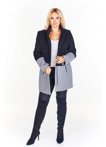 Dwukolorowy płaszcz
