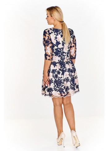 Sukienka w kwiaty z rozkloszowanym dołem Plus Size