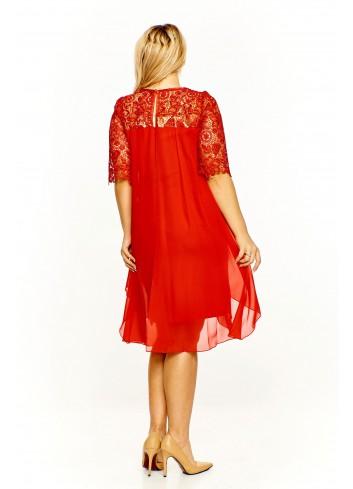 Sukienka Sophie z gipiurową wstawką Plus Size