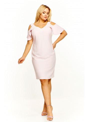 Pudełkowa sukienka z odkrytymi ramionami Plus Size