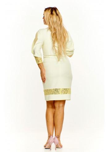 Sukienka z koronką Plus Size