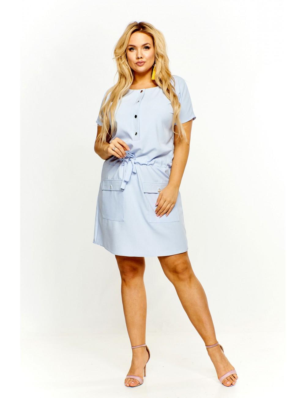 a05fd91f68 Sukienka z kieszeniami Kolor Niebieski Rozmiar 3