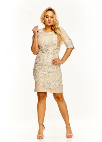 Ołówkowa sukienka z koronką Plus Size