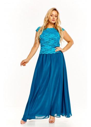 Sukienka maxi z koronkową górą Plus Size