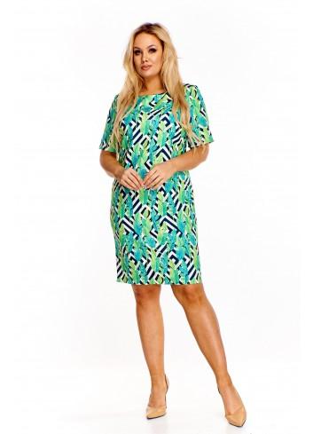 Pudełkowa sukienka we wzory Plus Size