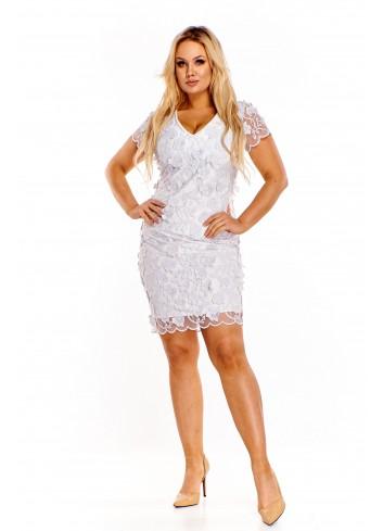 Sukienka z wyszywanym wzorem Plus Size