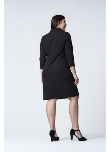 Sukienka z dwurzędowymi guzikami Plus Size
