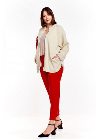 Sweter z wyszywanym wzorem Plus Size