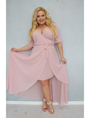 Elegancka sukienka plus size dla puszystej
