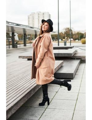 stylowy zimowy płaszcz Plus Size dla niskich kobiet
